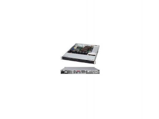 Серверный корпус 1U Supermicro CSE-815TQ-600CB 600 Вт чёрный