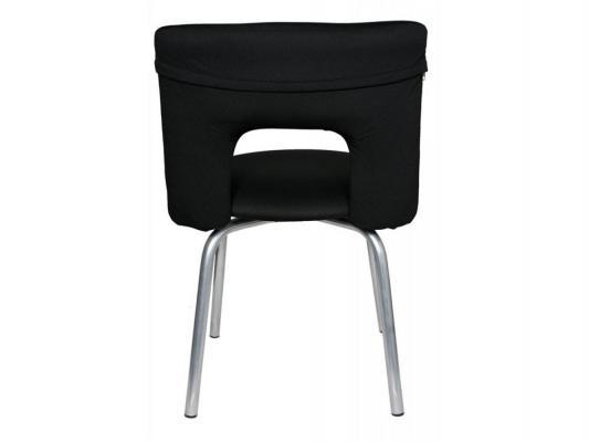 Стул Buro KF-1/BLACK26-28 вращающийся черный стул бюрократ kf 1 на ножках ткань черный [kf 1 black26 28]
