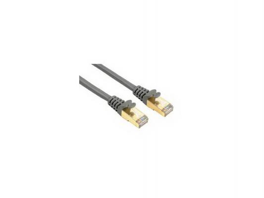 Патч-корд 5E категории Hama H-46736 STP позолоченные контакты серый 20.0м