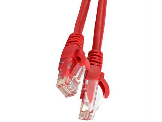 Патч-корд UTP 5E категории 3м Hyperline PC-LPM-UTP-RJ45-RJ45-C5e-3M-LSZH-RD LSZH красный