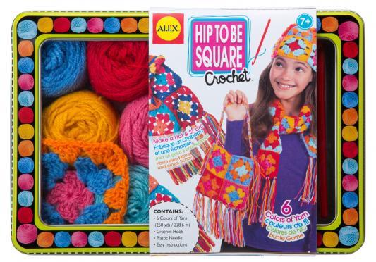 Набор для вязания Alex Модные вещи из вязаных квадратов от 7 лет