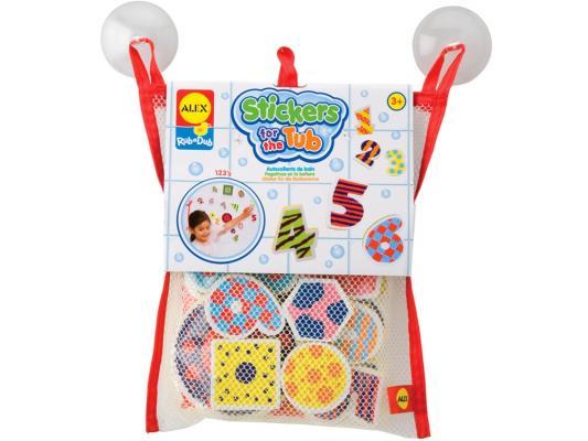 Набор фигурок-стикеров для ванны Цифры в сетке, от 3 лет 632W alex игрушки для ванны 3 цветные лодочки