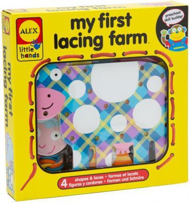 Игрушка-шнуровка ALEX Веселая ферма игрушки для ванны alex ферма