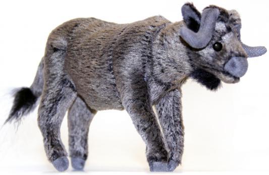 Мягкая игрушка бык Hansa 5418 искусственный мех серый 16 см