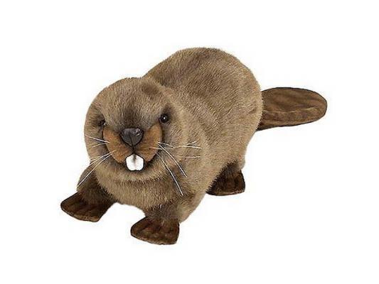 Мягкая игрушка герой мультфильма Hansa Бобёр искусственный мех синтепон коричневый 20 см 3838 hansa бобёр 32 см