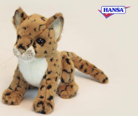 Мягкая игрушка леопард Hansa 2455 искусственный мех 16 см