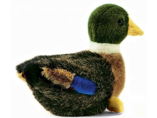 Мягкая игрушка утка Hansa 2053 искусственный мех разноцветный 19 см