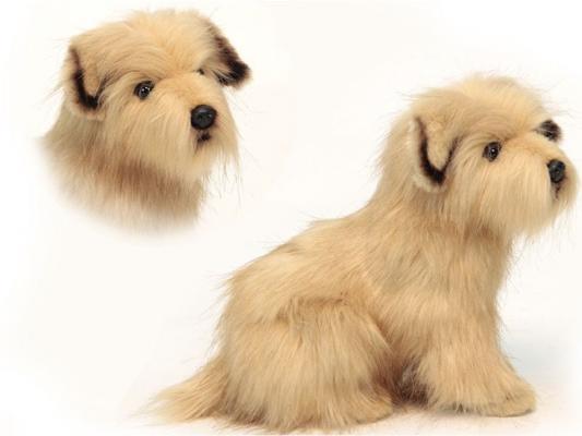 Мягкая игрушка собака Hansa Норфолкский терьер искусственный мех бежевый 23 см 4126