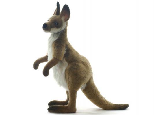 Мягкая игрушка кенгуру Hansa 4023 искусственный мех серый 50 см