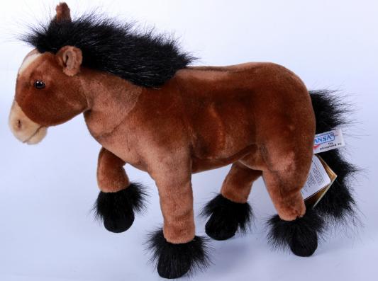 Мягкая игрушка пони Hansa 3417 искусственный мех коричневый 36 см
