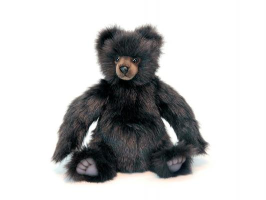 Мягкая игрушка медведь Hansa Бурый искусственный мех коричневый 36 см 6369