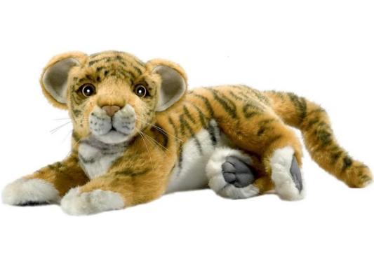 Мягкая игрушка тигр Hansa лежащий искусственный мех 26 см 4990 мягкая игрушка медведь hansa 4982 искусственный мех черный 90 см лежащий