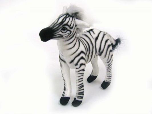Мягкая игрушка зебра Hansa 3743 искусственный мех 15 см мягкая игрушка собака hansa собака породы бишон фризе искусственный мех белый 30 см 6317