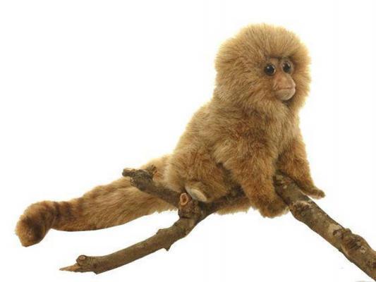 Мягкая игрушка обезьянка Hansa Карликовая игрунка искусственный мех коричневый 15 см