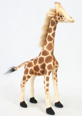 Мягкая игрушка жираф Hansa 3731 искусственный мех бежевый 27 см