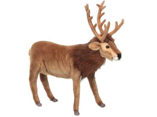 Мягкая игрушка олень Hansa Северный искусственный мех коричневый 35 см 6189
