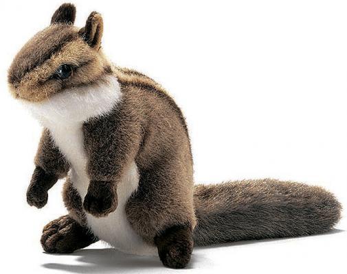 Мягкая игрушка герой мультфильма Hansa Бурундук сидящий искусственный мех коричневый 16 см