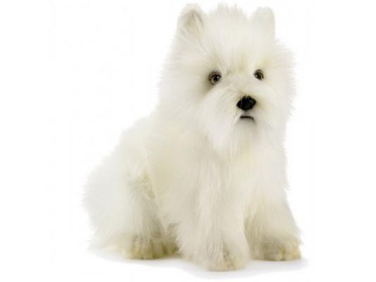 Купить Мягкая игрушка собака Hansa Вест хайленд уайт терьер искусственный мех белый 23 см 4127, Животные
