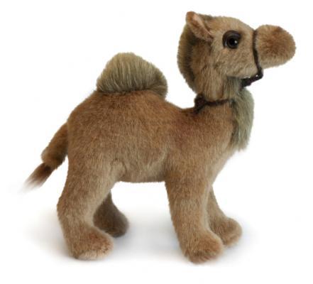 Мягкая игрушка верблюд Hansa 4536 искусственный мех коричневый 18 см