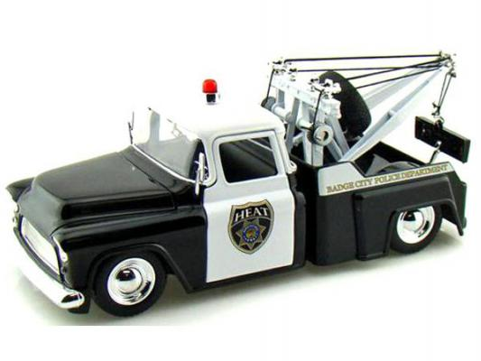 Автомобиль Jada Toys Chevy Step Side Tow Truck Police 1955 1:24 черный