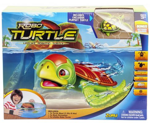 Интерактивная игрушка ZURU РобоЧерепашка и аквариум с островом от 3 лет разноцветный 25159