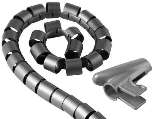 Кабель-органайзер Hama H-20601 30мм пластик серебристый 1.5м