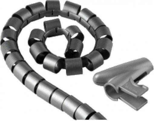 Кабель-органайзер Hama H-20600 20мм пластик серебристый 2.5м