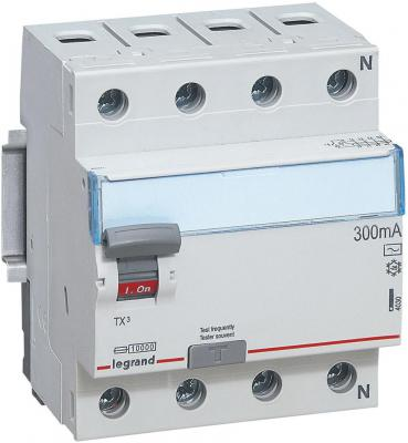 Выключатель дифференциального тока Legrand TX3 4П 25A 300mA-AC 403042