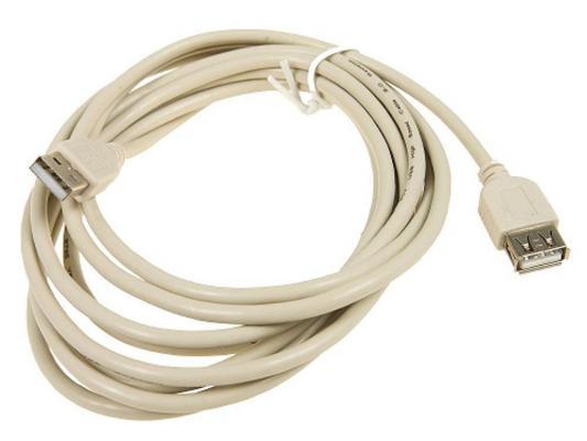 Кабель USB 2.0 AM-AF 3.0м 5bites UC5011-030C аксессуар 5bites usb am af 1 8m uc5011 018a