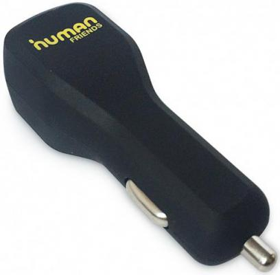 Автомобильное зарядное устройство CBR Human Friends Doubler 2х USB 2.1A черный human friends spiraler l black автомобильное зарядное устройство