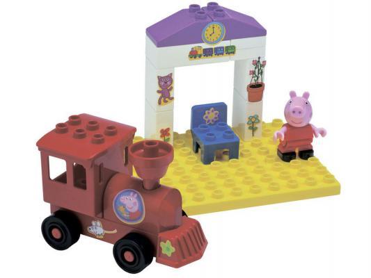 Конструктор Big Peppa Pig: Поезд с остановкой 15 элементов 57072