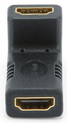 Переходник HDMI(f)-HDMI(f) угловой золотые разъемы Gembird A-HDMI-FFL