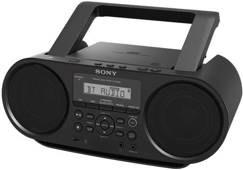 Магнитола Sony ZS-RS60BT черный магнитола sony zs rs60bt