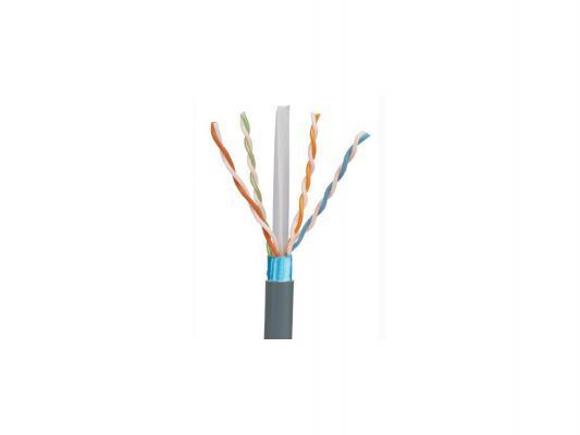 Кабель Panduit UTP кат 5e LSZH 4X2X24AWG внутренний 305м серый PFL5504DG-KG кабель информационный brand rex ac6 dcz eca rlx 305vt кат 6а u ftp инд экран пар lszh внутренний 305м фиолетовый