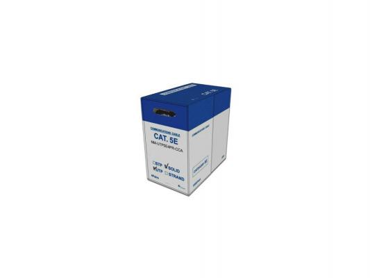 Кабель Lanmaster UTP кат.5е 4 пары 305м серый NM-UTP5E4PR-CCA кабель power cube utp pc upc 5040e sol кат 5е 4 пары 305м