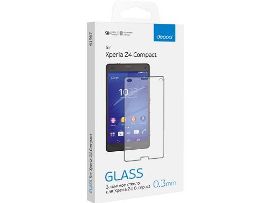 Защитное стекло и пленка Deppa для Sony Xperia Z4\Z3 Compact 0.3 мм прозрачное 61967