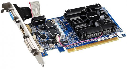 Видеокарта 1024Mb Gigabyte GeForce 210 PCI-E DVI HDMI VGA HDCP GV-N210D3-1GI V6.1 Retail видеокарта 2048mb gigabyte geforce gtx950 pci e 128bit gddr5 dvi hdmi 3xdp hdcp gv n950xtreme 2gd retail