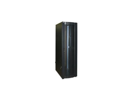 Шкаф напольный 42U ECOline 800x800mm передняя дверь двустворчатая с металлической рамой слева и справа задняя дверь двустворчатая металличес