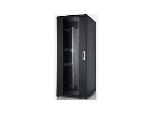 """Шкаф напольный 19"""" 42U Estap SRV42U8BR1R1 800x1000mm передняя дверь двустворчатая перфорированная задняя дверь двустворчатая перфорированная"""