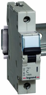 Автоматический выключатель Legrand TX3 6000 10кА тип С 1П 6А 403913 выключатель автоматический tdm ва47 100 4р 50а 10ка с sq0207 0085
