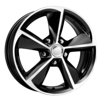 Диск K&K КС681 6.5xR16 5x112 мм ET46 Алмаз черный колесные диски кик окинава 7 5x17 6x139 7 d67 1 et46 алмаз черный