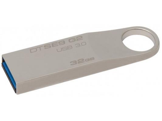 Флешка USB 32Gb Kingston DataTraveler SE9 DTSE9G2/32GB серебристый 32 kingston datatraveler mini 3 0