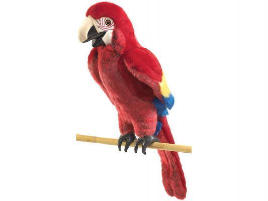 Купить Мягкая игрушка попугай Folkmanis на руку текстиль красный 63 см 2362