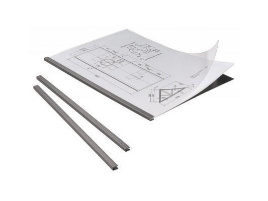 Набор для брошюровки Durable Duragrip 5 скрепкошин + 5 прозрачн обложек max 20 листов пластик черный 294201