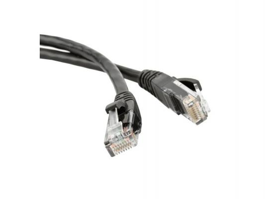 Патч-корд UTP 5E категории 3м Hyperline PC-LPM-UTP-RJ45-RJ45-C5e-3M-LSZH-BK черный сетевой кабель onext ethernet rj45 m cat 5e 3m 60802