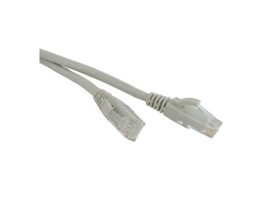 Патч-корд UTP 6 категории 5м Hyperline PC-LPM-UTP-RJ45-RJ45-C6-5M-LSZH-GY серый