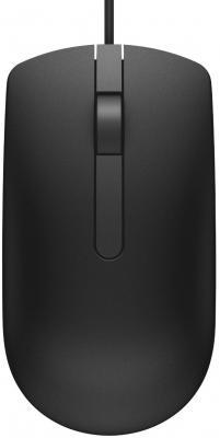 лучшая цена Мышь проводная DELL MS116BK чёрный USB 570-AAIQ