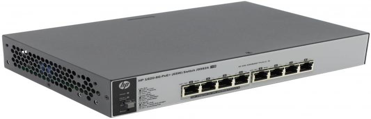 Коммутатор HP 1820-8G-PoE+ управляемый 8 портов 10/100/1000Mbps J9982A цена 2017