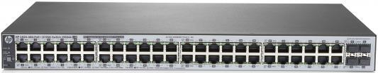 Коммутатор HP 1820-48G-PoE+ управляемый 48 портов 10/100/1000Mbps 4хSFP J9984A коммутатор hp e1910 8 poe управляемый 8 портов 10 100mbps poe jg537a