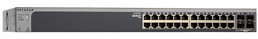 Коммутатор Netgear GS728TX-100NES управляемый 24 порта 10/100/1000Mbps 2хSFP